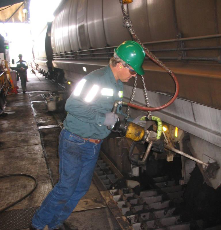 Man requiring Coal Terminal Vibration Ergonomics